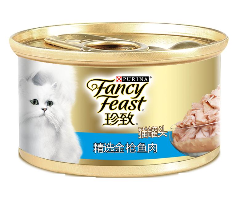 珍致精选金枪鱼肉猫罐头