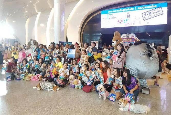 泰国宠物狗展 四天引数十万人参观
